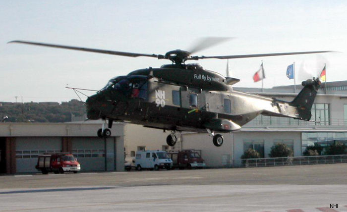 NH90 helicopter flies full fly-by-wire