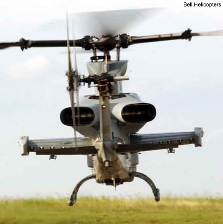 First Flight for AH-1Z Turned Exhaust