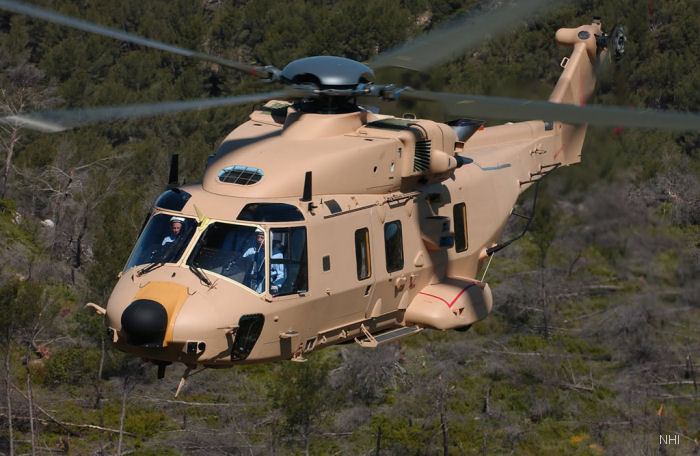 First NH90 Tactical Transport Helicopter for Oman performed Maiden Flight at Eurocopter in Marignane