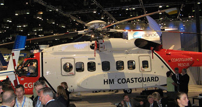 The new S-92 helicopter dedicated to SAR is entering service for the United Kingdom Maritime and Coastguard Agency in 2007 operated by CHC