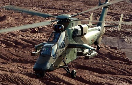 Spanish Army s first three Tiger / Tigre helicopters  arrived to FAMET base in Almagro