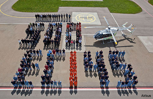 Eurocopter EC145 helicopter: 500 deliveries and still going strong!