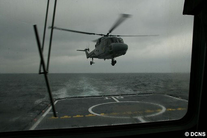 DCNS conducts first helicopter deck landing trials on FREMM Aquitaine