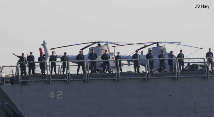 4 Fire Scouts to increase maritime surveillance aboard USS Klakring