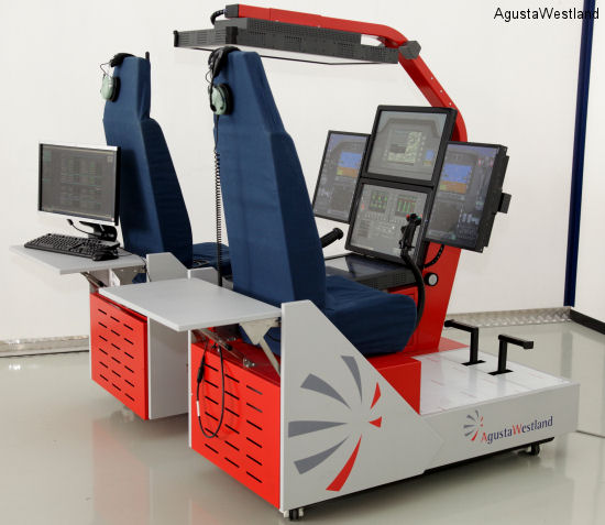 AW169 mockup and Virtual Trainer at ALEA 2013