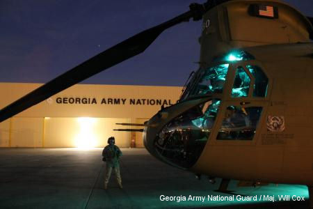 A day at the office for Georgia Chinook helicopter unit