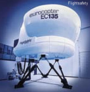 FlightSafety Eurocopter EC135 simulator receives Night Vision Goggle Qualification from the FAA
