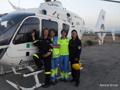 INAER forms Spain first all-woman EMS helicopter crew