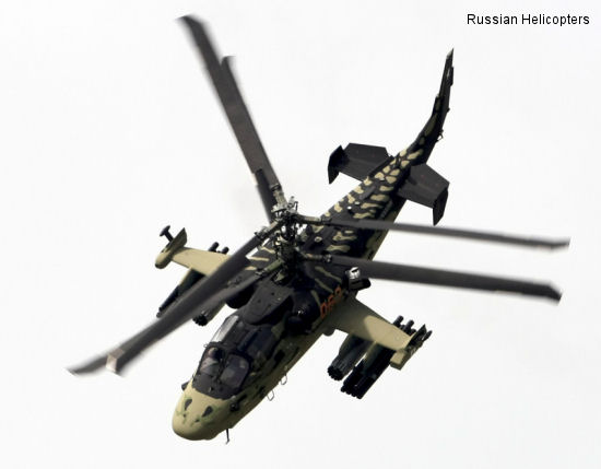 Russian Ка-52 Alligator combat helicopter creates a sensation at Le Bourget