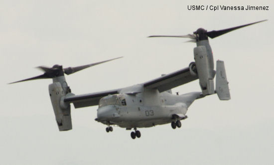 MV-22 Ospreys conduct first flights in Japan