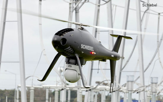 Schiebel demonstrates use of Camcopter S-100 UAS for power line patrol