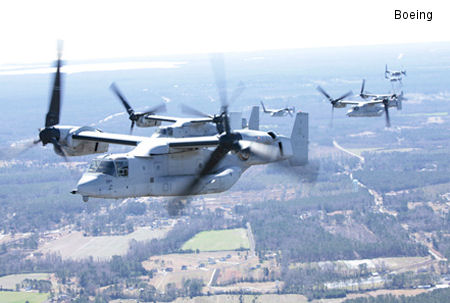 Bell Boeing Awarded Contract for 99 V-22 Osprey Tiltrotor Aircraft