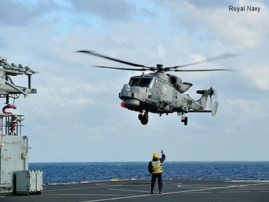 Navy Wildcat joins RFA Argus at sea for trials