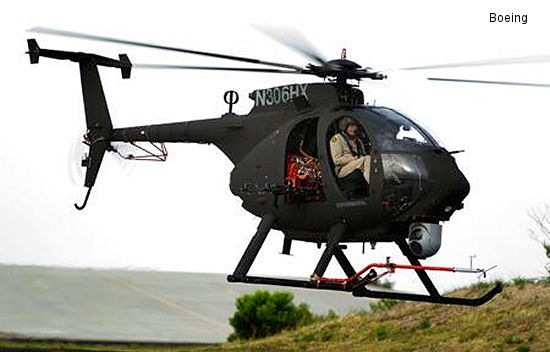 Boeing Flies Production Configuration AH-6i Light Helicopter for the 1st Time