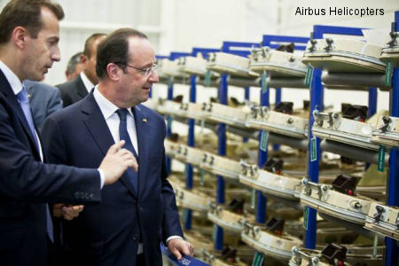 French President Francois Hollande visits Querétaro site in Mexico