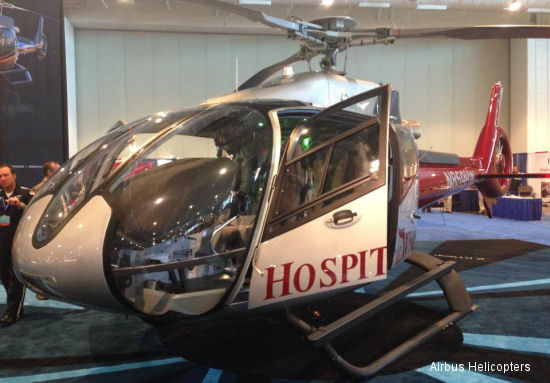 Wysong Enterprises showcases Hospital Wing EC130 at AMTC14