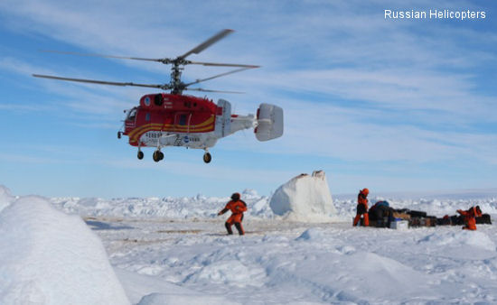Ka-32A11BC rescues passengers from Akademik Shokalskiy ship trapped in Antarctic sea ice