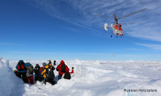 Ka-32A11BC rescues ship trapped in Antarctic