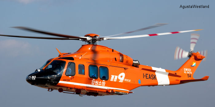 Korea Chungnam Fire Fighting Department Orders An AW139 For Public Utility Missions