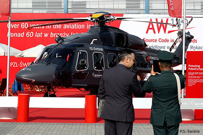 PZL-Świdnik to exhibit the new generation AW149 multirole military helicopter at MSPO 2014 in Kielce