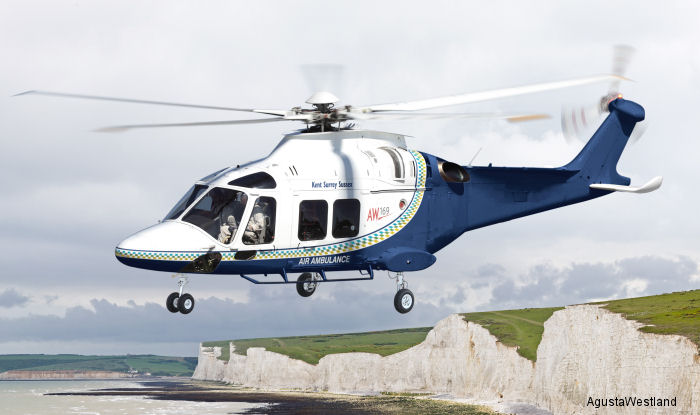 Kent, Surrey and Sussex Air Ambulance Trust selects the AW169 for HEMS in UK. To be Operated by Specialist Aviation Services