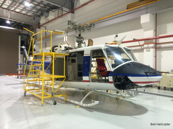 BTA students in Singapore now receive the benefit of hands-on training with the Bell 412 maintenance trainer, pictured here in the Bell Helicopter Singapore Service Center.