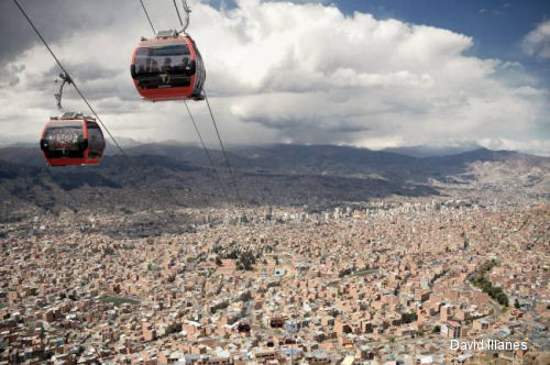 AS350B3 works in longest urban cable car in Bolivia