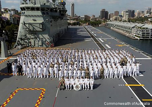 Australia first Landing Helicopter Dock (LHD),  HMAS Canberra III, was welcomed into service in the Royal Australian Navy.