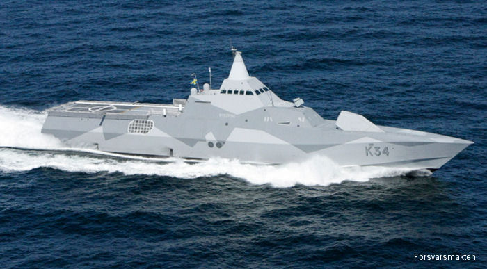 Swedish <a href=/database/sys/571_Visby_class/>Visby class</a> corvette