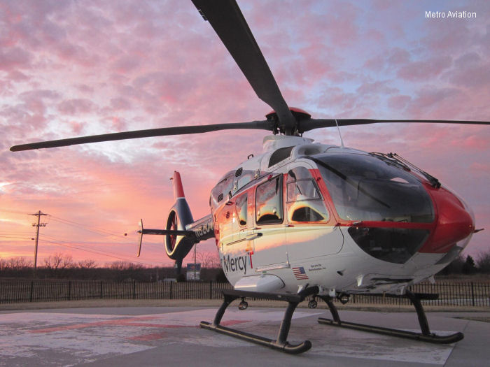 Metro delivers two EC135 aircraft to Mercy Life Line