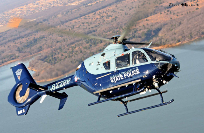 Delivery of fourth Massachusetts State Police EC135 highlights Airbus Helicopters leadership in light twins for law enforcement