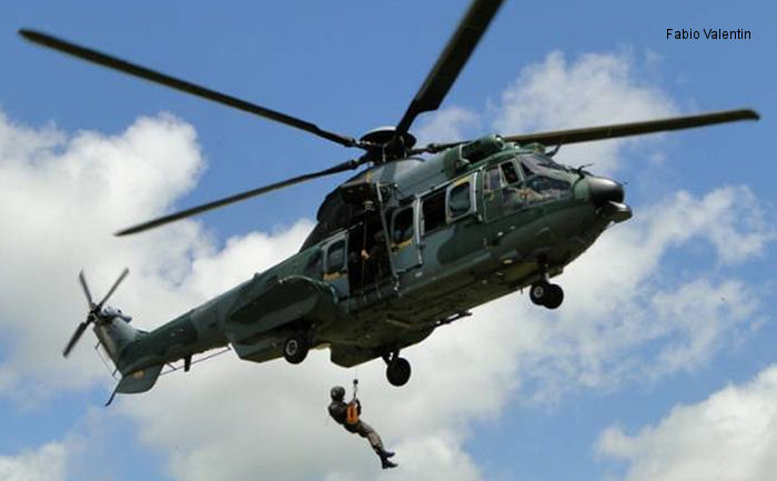 The Brazilian Air Force achieves 1,000 flight hours with one EC725