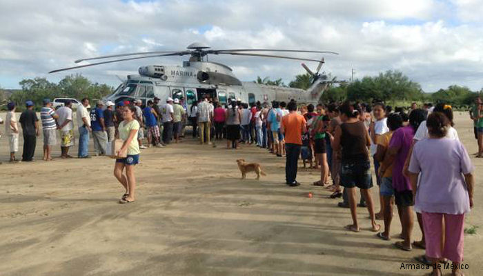 Mexican Navy EC725 Pilots Recount Hurricane Odile Rescue Operations