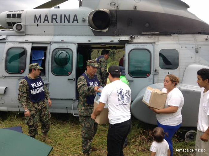 Mexican Navy EC725 Hurricane Odile Relief