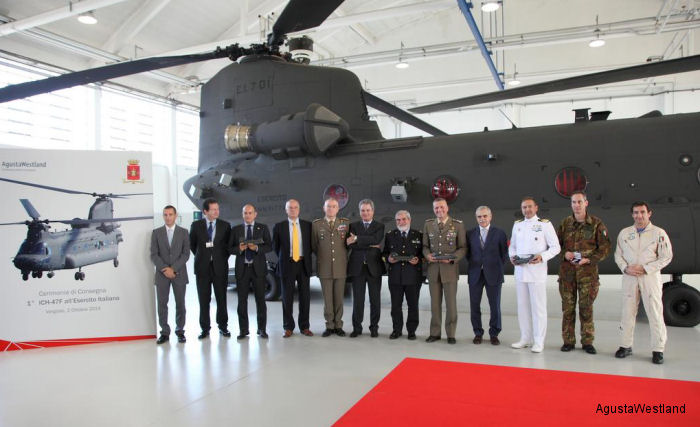 Italian Army Takes Delivery of Its First Two ICH-47F Helicopters