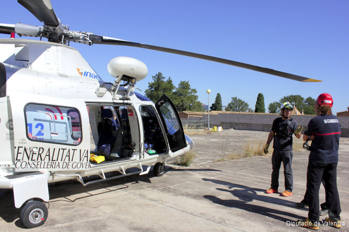 The Provincial Firefighter Consortium of Valencia launched the Helicopter Transport Rescue Unit, Unidad helitransportada del Consorcio de Bomberos, specialized in mountain rescues.