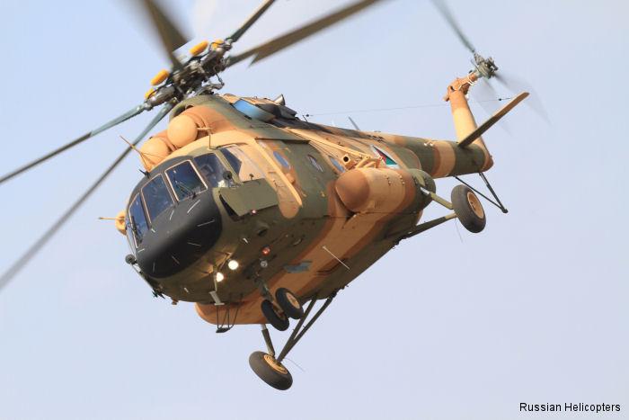 Russian Helicopters concluiu o fornecimento de 63 helicópteros Mil Mi-17V-5 para Afeganistão