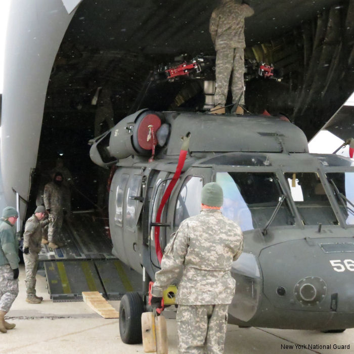 Three New York National Guard Black Hawks from 3rd Battalion 142nd Aviation Regiment flew on a C-17 cargo airplane to Puerto Rico to conduct a three-day training exercise