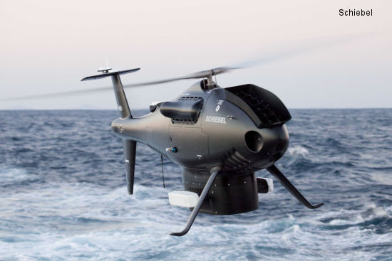 Schiebel demonstrates the Camcopter S-100 Maritime Capabilities for the Brazilian Navy