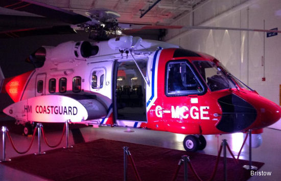 Bristow Accepts First Sikorsky S-92 Helicopter for Long-Term Search and Rescue Services in UK