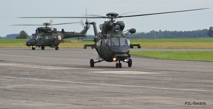 Świdnik-produced W-3PL Głuszec helicopters successfully demonstrate combat support capabilities during European military exercise