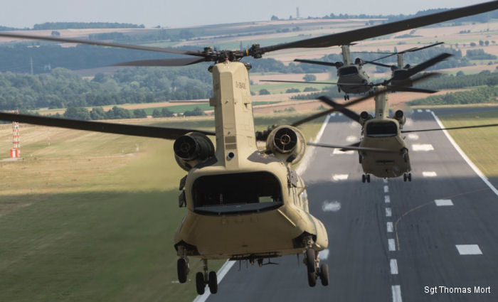 12th Combat Aviation Brigade receives brand new CH-47F MYII Chinooks