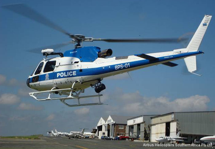 Botswana Police Air Support Branch orders three AS350 B3e from Airbus Helicopters