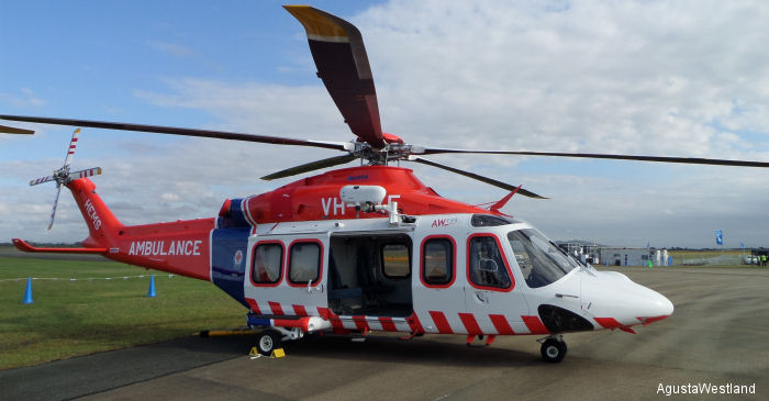 AgustaWestland and Australian Helicopters are pleased to announce the delivery of the first AW139 intermediate twin-engine helicopter in EMS configuration for Ambulance Victoria.
