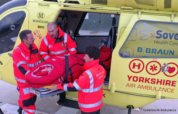 Yorkshire Air Ambulance patients benefit from new casualty bag