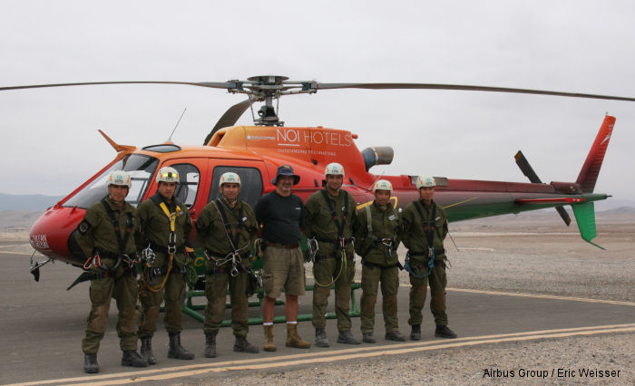 The Airbus Helicopters Foundation supports rescue efforts in Chile Atacama Desert area after floods and landslides
