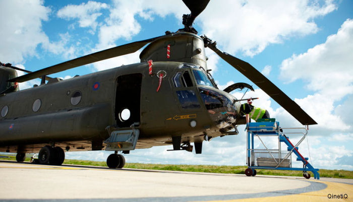 QinetiQ has signed a £5.2m contract with the UK Ministry of Defence (MOD) to independently evaluate Boeing's Digital Automatic Flight Control System upgrades to the Chinook helicopter.
