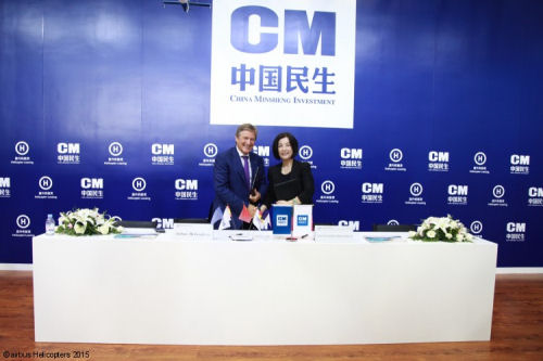 Chinese leasing company CMIFL signs agreement for 100 H125 and H130 helicopters over five years