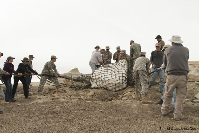New Mexico National Guard airlifts dinosaur fossils