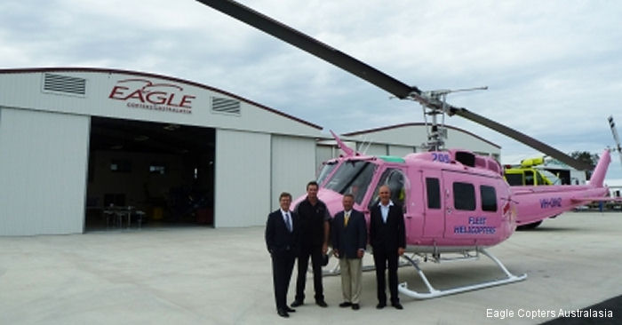 Less than two years after establishing its base at Coffs Harbour, Eagle Copters Australasia officially open its new maintenance facility servicing complete refurbishments.